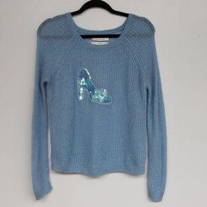 LC Lauren Conrad Disney Cinderella Slipper Sweater